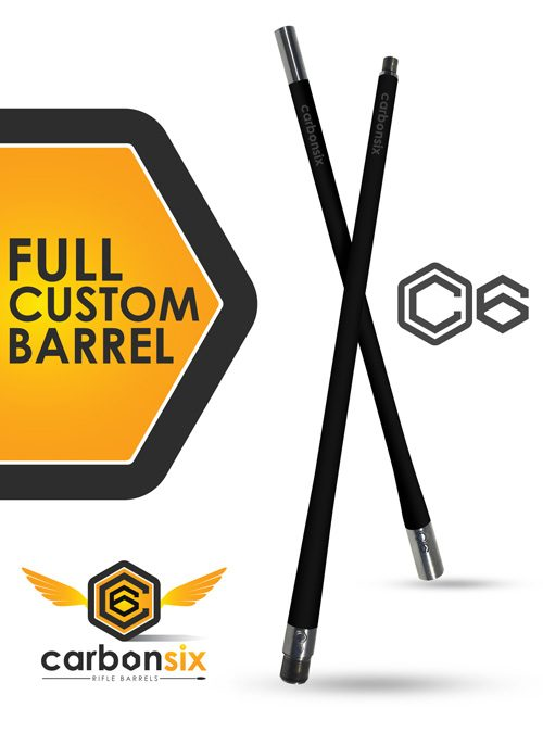 full custom carbon six llc carbon fiber rifle barrel