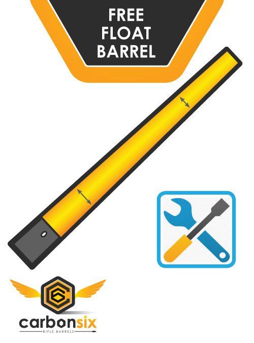 Free Float Barrel Gunsmithing at Carbon Six Carbon Fiber Barrels
