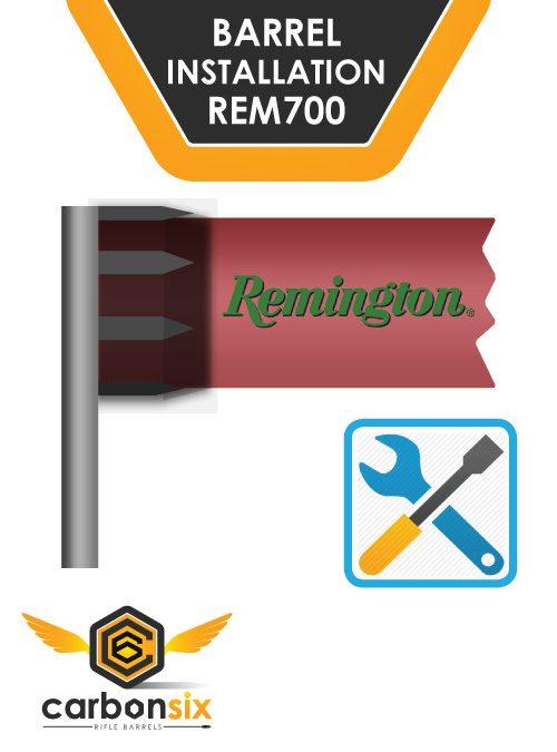 install remington carbon fiber barrel gunsmthing service at CarbonSixLLC.com