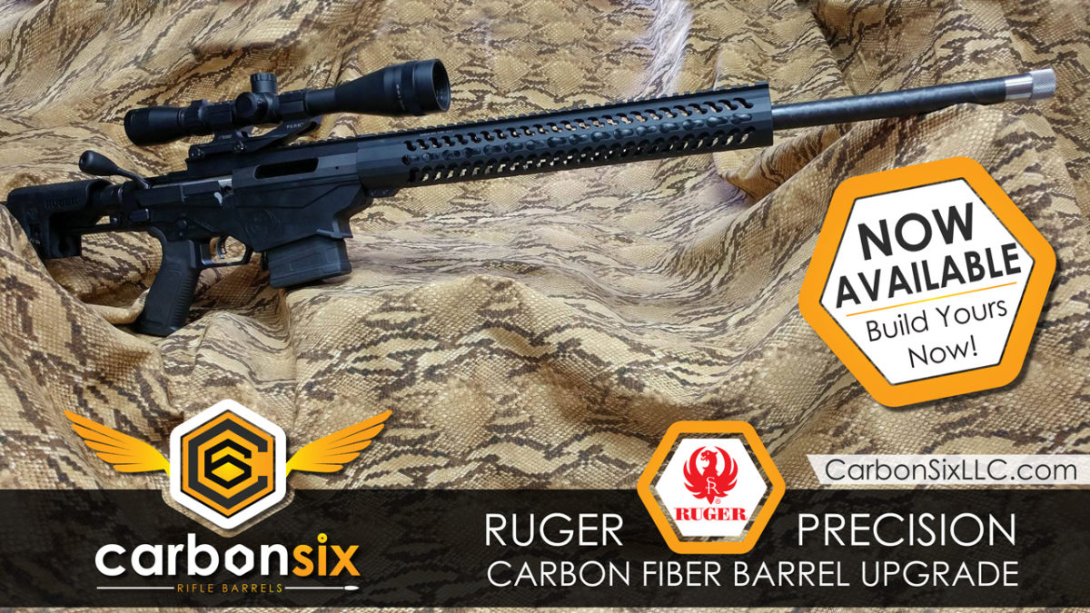 Carbon Fiber Ruger Precision Barrels from CarbonSixLLC.com now available