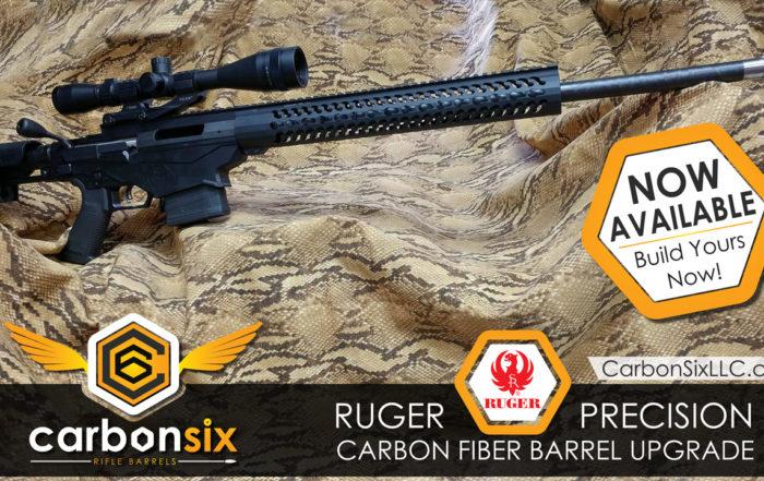 Carbon Fiber Ruger Precision Barrels from CarbonSixLLC.com now available