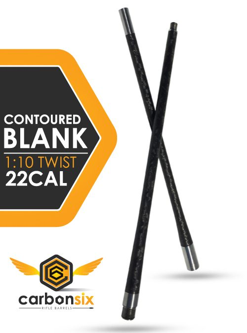 22 caliber carbonsix carbon fiber rifle barrel contoured blank