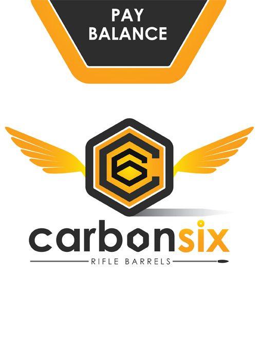 Pay Balance on your Custom Carbon Fiber Rifle Barrel