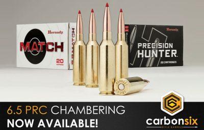 6.5 PRC now at CarbonSix Carbon Fiber Rifle Barrels