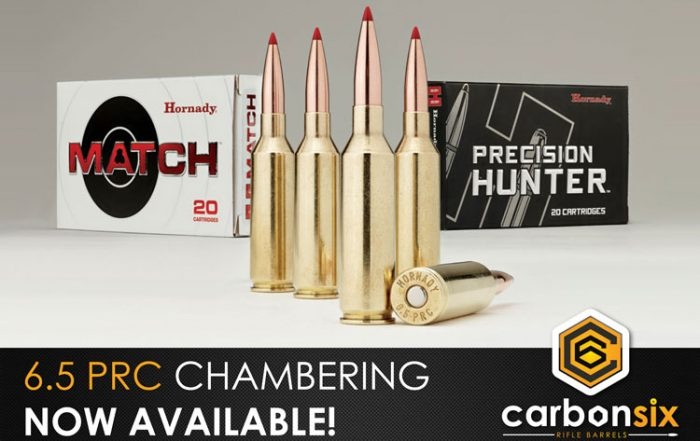 6.5 PRC now at CarbonSix Carbon Fiber Rifle Barrels