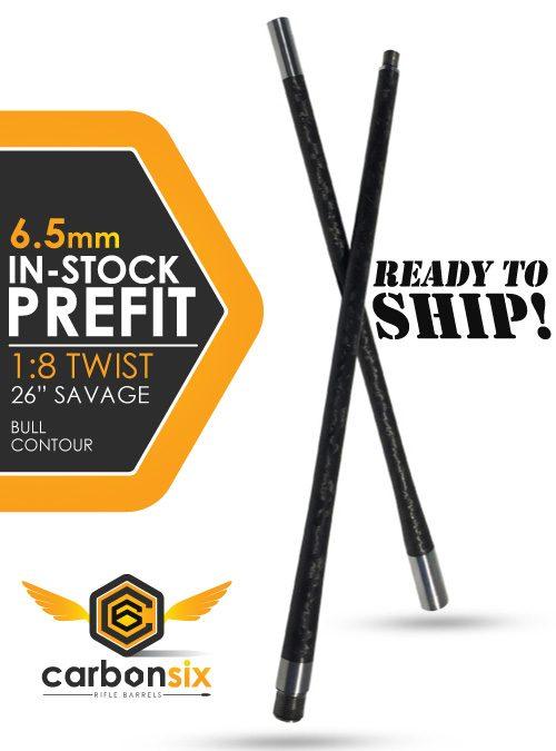 carbonsix in stock prefit carbon fiber rifle barrel