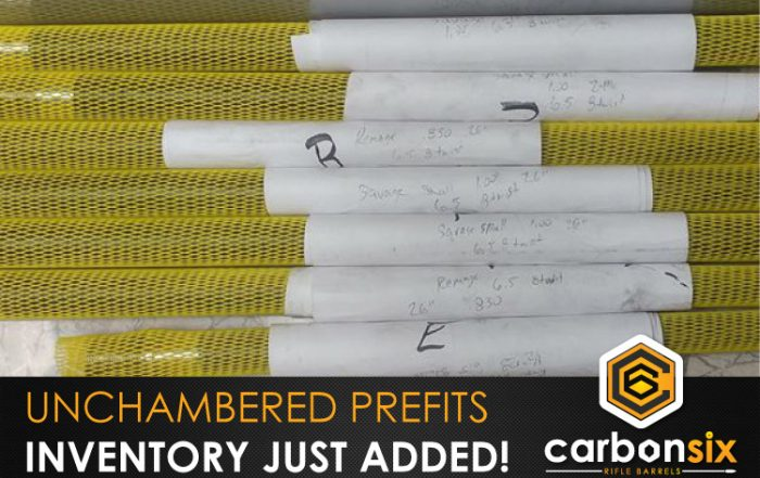 Unchambered CarbonSix Carbon Fiber Rifle Barrels